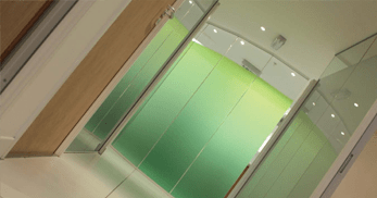 Glass partitioning within a medical environment